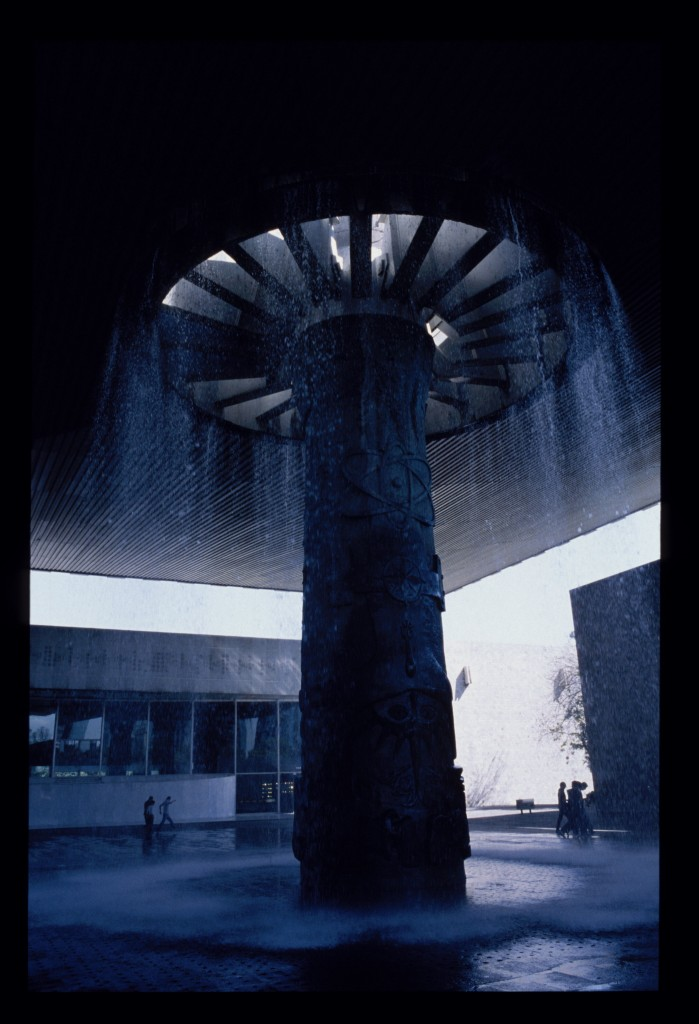 umbrella fountain in the anthrolopogy museum mexico city