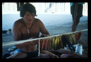 panara called tesaya weaving headdress - sharpened